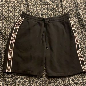 Hollister black sweat shorts